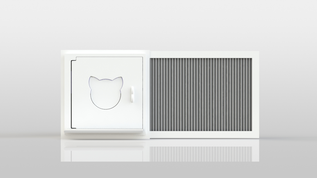Katio® is a kitty litter box that goes in your window – just like an A/C unit.